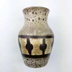 Petit vase Brun ceramique allemande Fat Lava Era