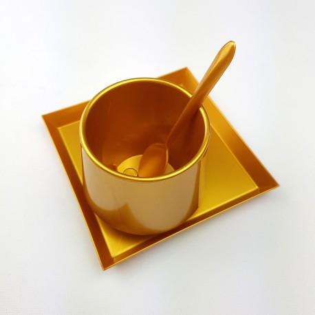 Service a café jetable Lux by Starck coloris Or