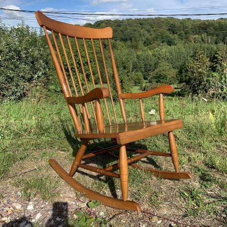 Rocking chair en bois