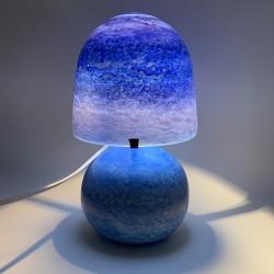 Pied lampe en verre verrerie de Biot Bernard Aconito et Pascal Guyot