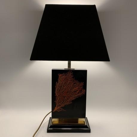 Lampe inclusion de corail DLG Pierre Giraudon resine epoxy