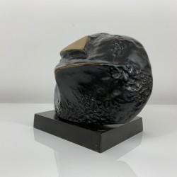 Sculpture lampe bronze contemporain Fonderie Huguenin