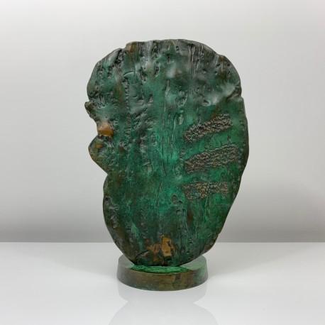 Sculpture lampe bronze contemporain cactus Fonderie Huguenin