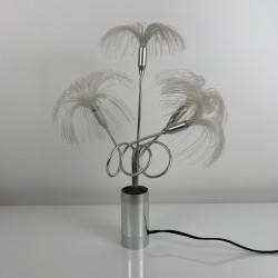 Lampe fibre optique palmier vintage