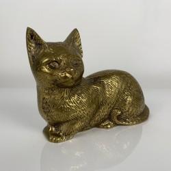 Chat en laiton vintage sujet scupture figurine statuette
