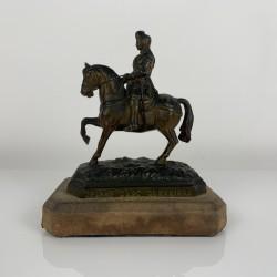 Sculpture Sujet en régule Jeanne D arc sur son cheval XIXe