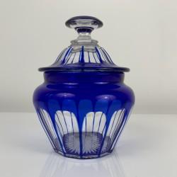Drageoir Sucrier bonbonniere cristal taillé Baccarat Saint Louis