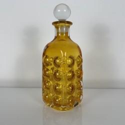 Bouteille carafe en cristal coloré Skruf Suede 1960 vintage