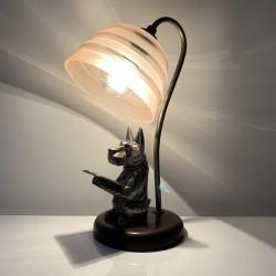Lampe  Art Deco chien scottie