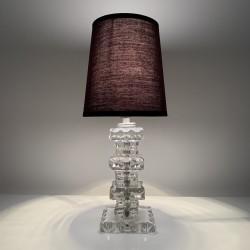 Lampe en cristal ou verre taillé style Art Deco DLG Adnet