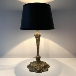 Lampe en bronze de style Art Nouveau dans le style de Leleu