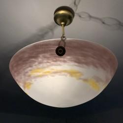 Vasque Art Déco verre marmoréen GV de Croismare France 1920