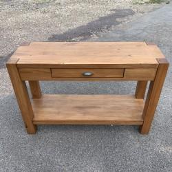 Console en bois style métier