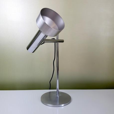 lampe de bureau articul e chrome et aluminium bross le havre vintage. Black Bedroom Furniture Sets. Home Design Ideas
